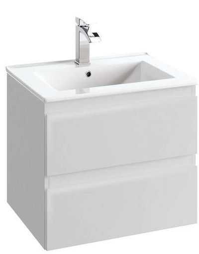 biała szafka z umywalką