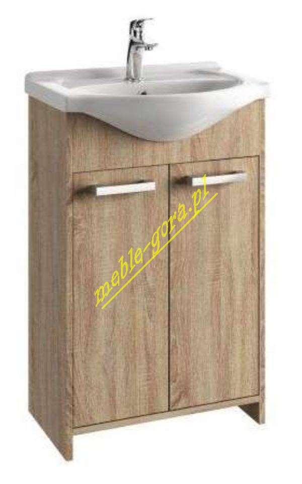 Koło drewniana szafka pod umywalke